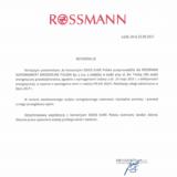Rekomendacja odspółki Rossmann Supermarkety Drogeryjne Polska Sp. zo.o.